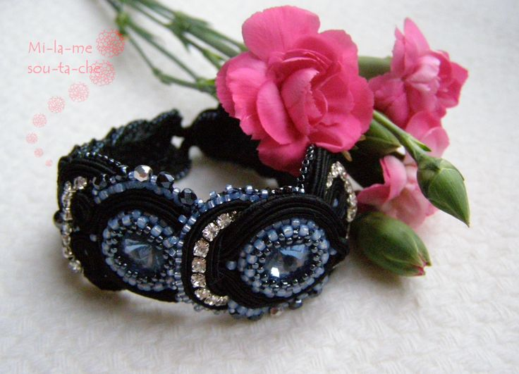 Soutache bracelet, design and made by Milame Soutache