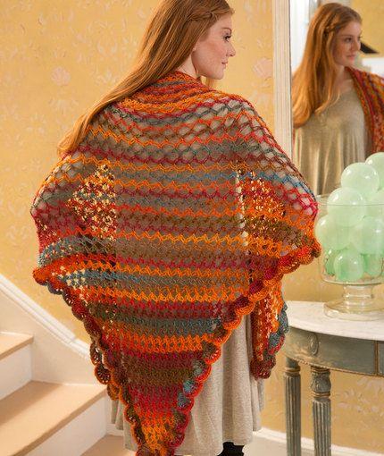 Summer of Love Shawl Free Crochet Pattern in Red Heart Boutique Unforgettable Yarn