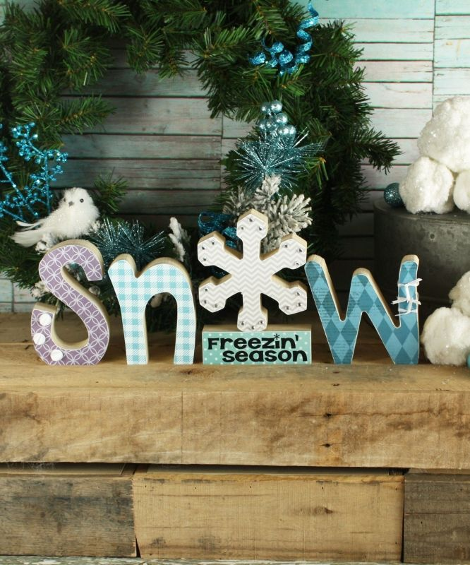 wooden letters craft ideas snow wood letters winter letters wood crafts freezin 5774