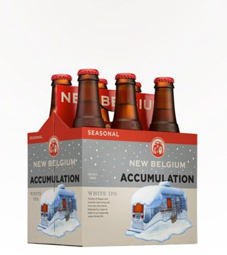 New Belgium Accumulation - $12.99 This bitter IPA showcases a variety of heavy hop flavors and aromas: tropical fruits, spicy herbs and bright citrus. 6.2% ABV