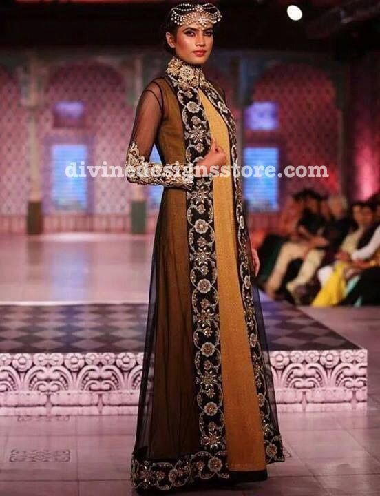 pakistani coat style dress - Google Search