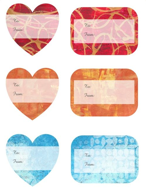 Free gift tags in mixed media style to download and print! #gifttag #gifttags #freetodownload #printout