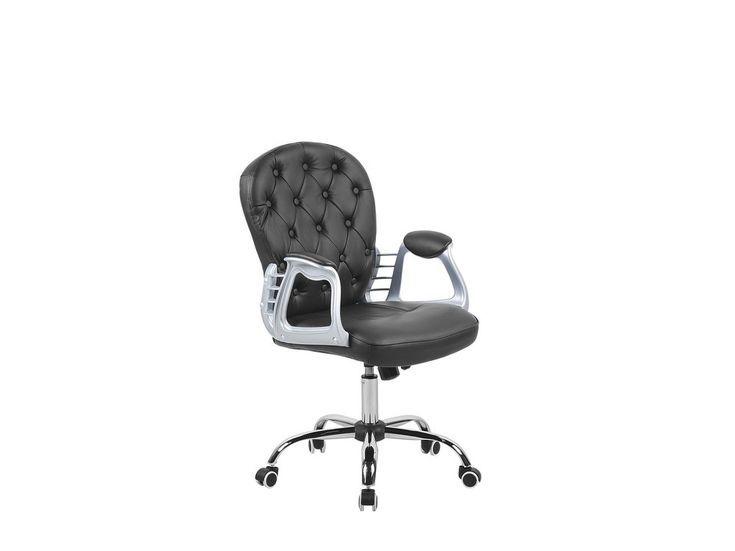 Chaises De Bureau En Cuir En 2020 Chaise Bureau Simili Cuir Simili Cuir Noir