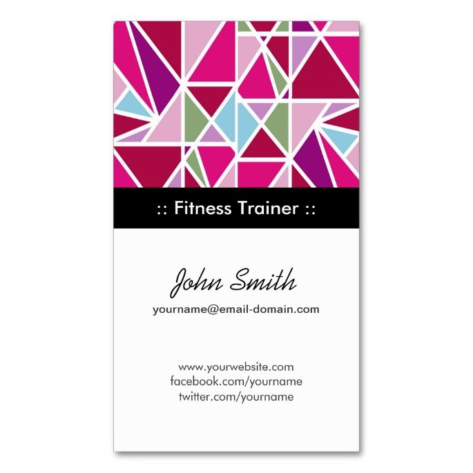 Best Fitness Business Cards Images On Pinterest Business - Fitness business card template