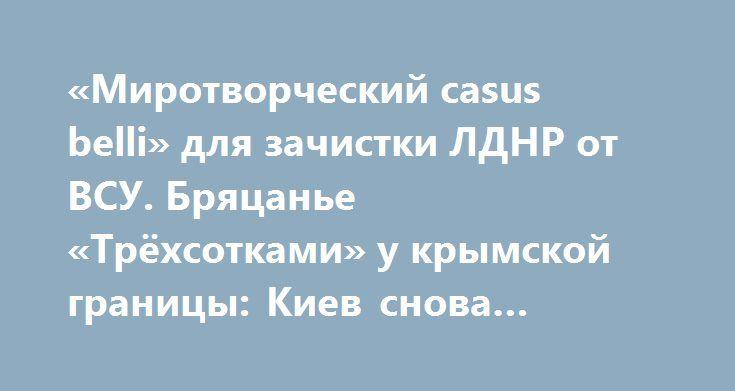 «Миротворческий casus belli» для зачистки ЛДНР от ВСУ. Бряцанье «Трёхсотками» у крымской границы: Киев снова испытывает судьбу! https://apral.ru/2017/09/13/mirotvorcheskij-casus-belli-dlya-zachistki-ldnr-ot-vsu-bryatsane-tryohsotkami-u-krymskoj-granitsy-kiev-snova-ispytyvaet-sudbu.html  Невероятно большое количество «грязи» и критики в последнюю неделю было направлено в сторону проекта резолюции о размещении миротворцев на линии соприкосновения в Донбассе, который Москва предоставила на…
