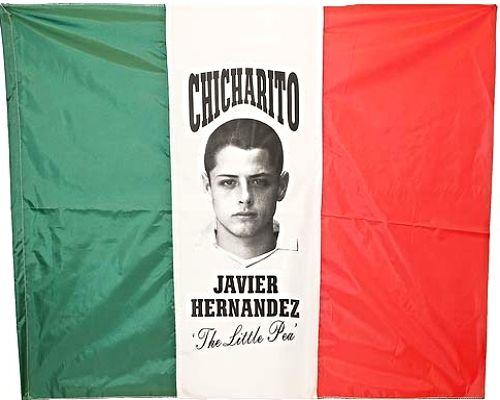 Chicharito Tri-colour Green White Red Mexico tri-colour Flag