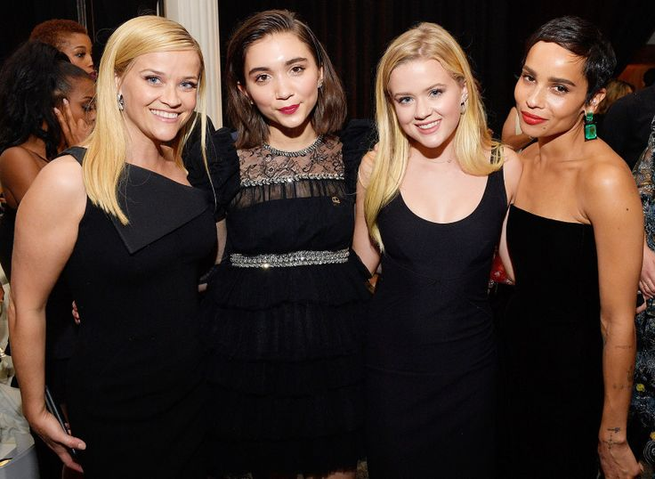 Reese Witherspoon Rowan Blanchard Ava Elizabeth Phillippe Zoe Kravitz 2018 InStyle and Warner Bros. 75th Annual Golden Globe Awards Post-Party 2018