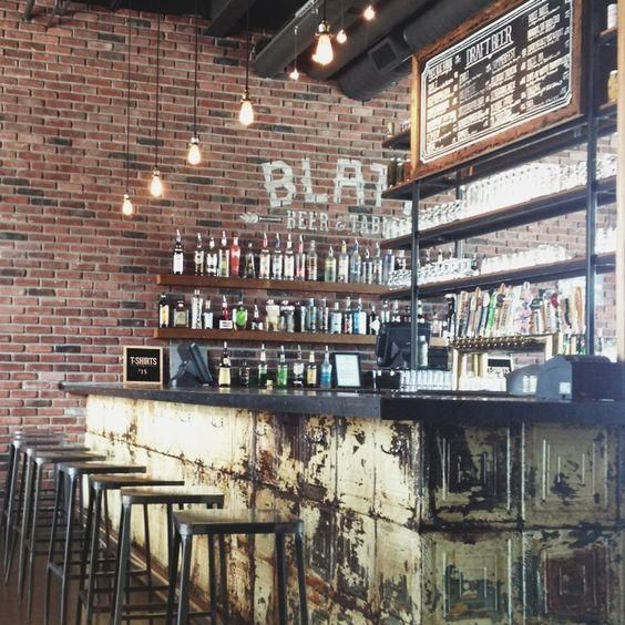 Modern Home Bar Design Ideas: 50 Elegant Industrial Style Home Bar Ideas