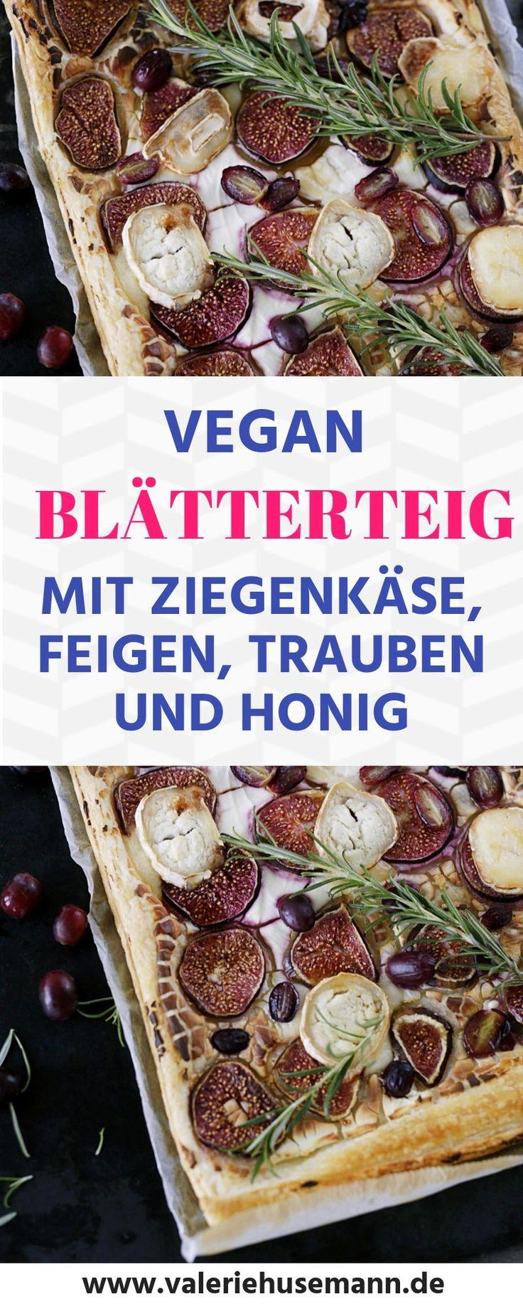 Blätterteig, ziegenkäse, feigen, trauben, honig, desserts, süßes, vegetarisc...