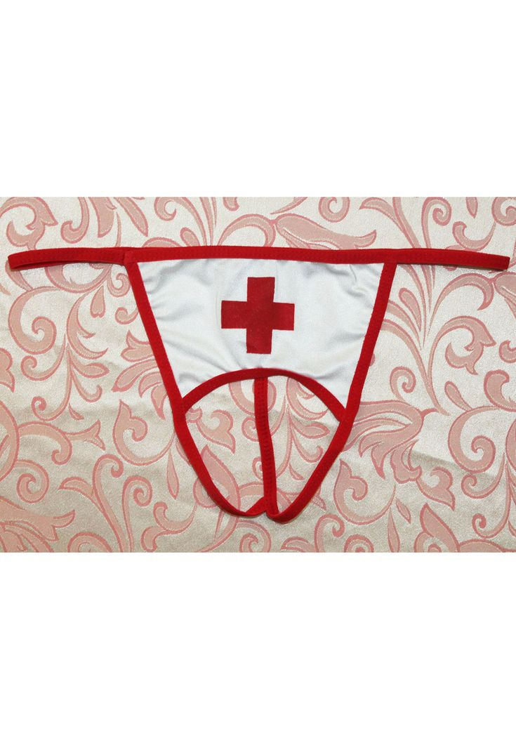 Sexy Wicked Open Crotch Nurse G-string