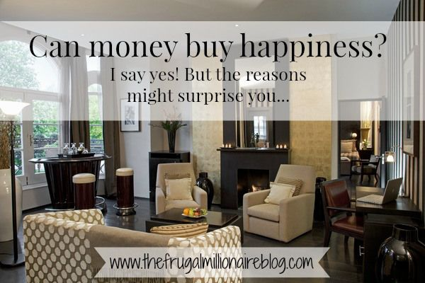 Can money buy happiness? I say yes!