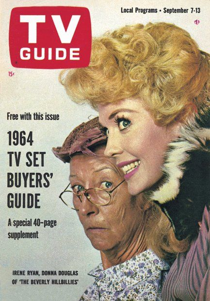 "TV Guide, September 7, 1963 - Irene Ryan and Donna Douglas of ""The Beverly Hillbillies"
