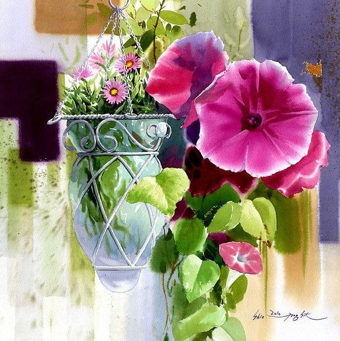 watercolor by Shin Jong Sik