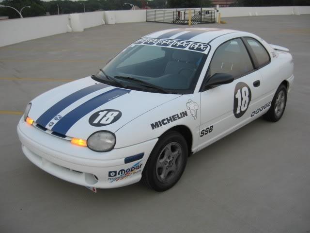 Dodge Neon Race Car  http://weekendhorsepower.com/2012/02/21/acr-celebrity-challenge-race-car-1995-dodge-neon-for-sale/