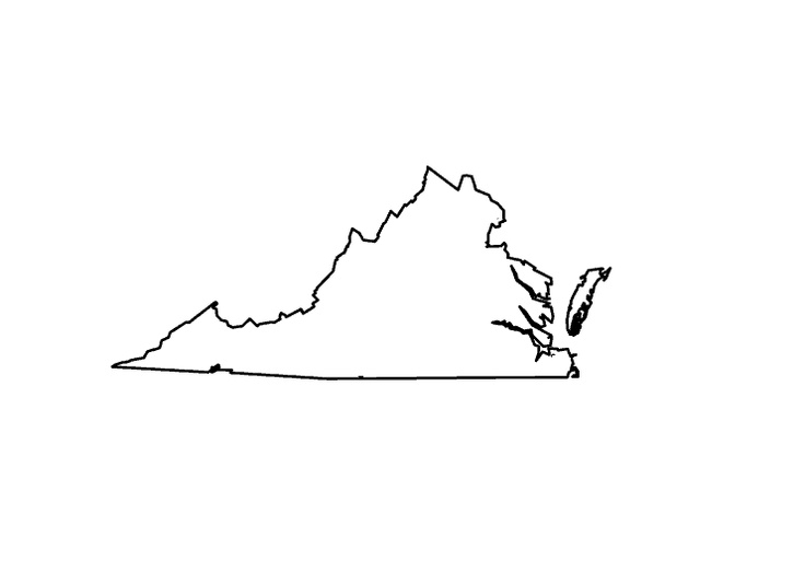 Gallery For Gt Virginia State Outline
