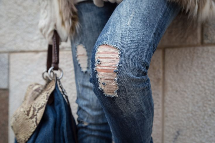 So one of the biggest trends this year has to be ripped jeans. The style goes from skinny jeans with a small rip just cross each knee, right up to the multi-holed boyfriend jeans that are made out of pre-faded, pre-worn denim so that they already look ten years old when you buy them. Ripped jeans have been seen on the likes of Jessica Alba and Cameron Diaz, and they look like they'll be a big winner in the fashion stakes for a good while yet.