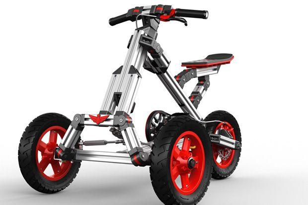 成長に合わせて長く使える、子ども用組み立て乗り物キット「Infento」