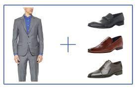 Resultado de imagen para traje gris zapatos marrones