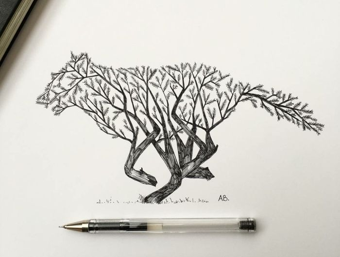 1001 id es pour dessiner un arbre merveilleux avec. Black Bedroom Furniture Sets. Home Design Ideas
