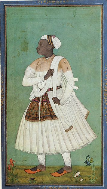 African Courtier in the Islamic Deccan Sultanates. 17th C. Golconda, India.