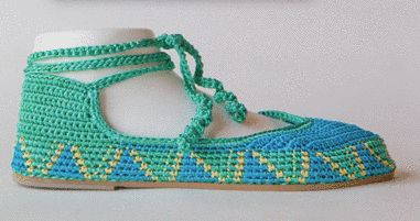 Ankle strap crochet shoes from Painted Bird