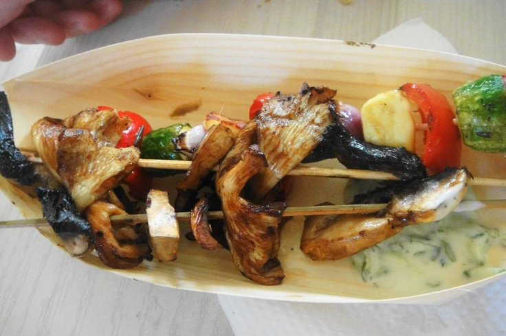 Healthy mushroom and vegetable kebabs from City Bowl Night Market