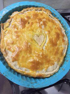 Receita de torta de maçã com massa folhada. Torta de maçã fácil de fazer.