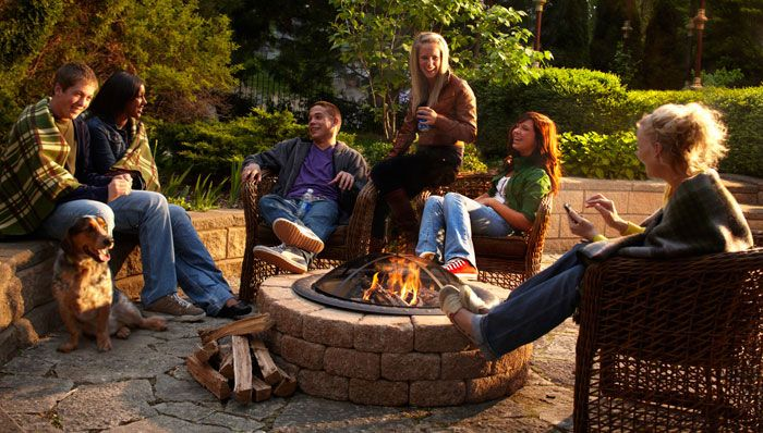 A Quick and Easy Firepit Surround