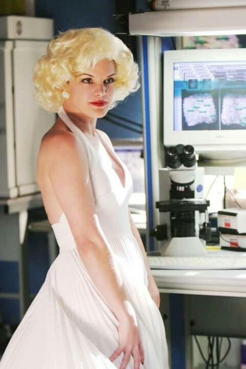 NCIS ABBY as Marilyn Monroe. Who thinks of these ideas? What a great photo!