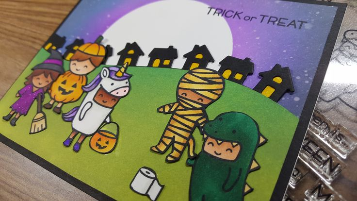 SO Much fun with Lawn Fawn Costume Party Stamps....such cutie patooties!