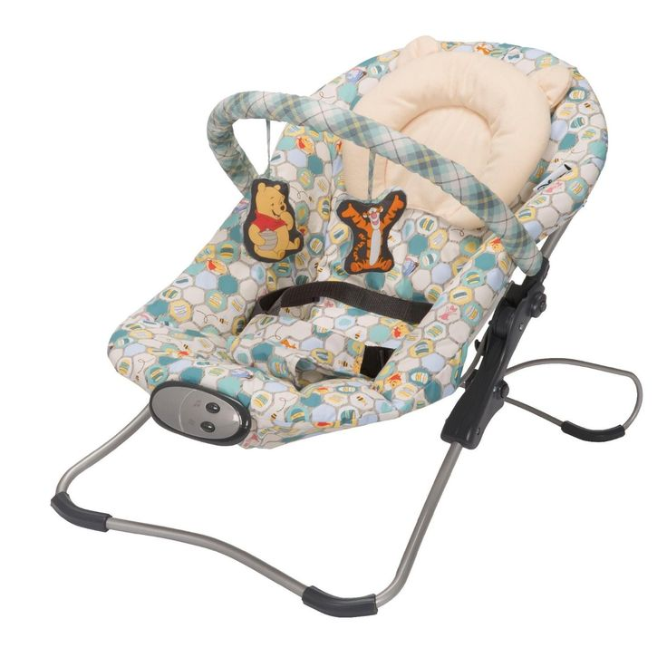 Disney Winnie The Pooh Infant Baby Seat Snug Fit Folding Bouncer Home Sweet Home