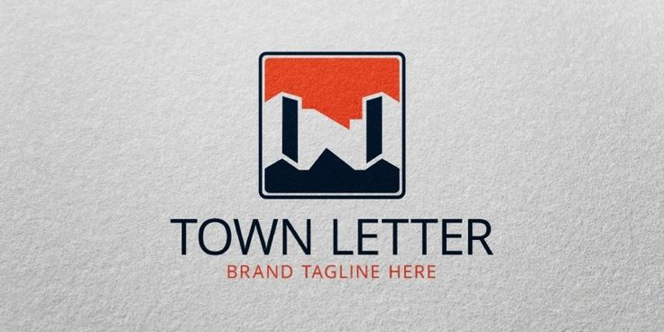 Town Letter Logo Template for Sale: 24$ + TVA