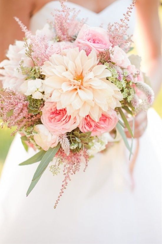Light Pink Flowers Bouquet
