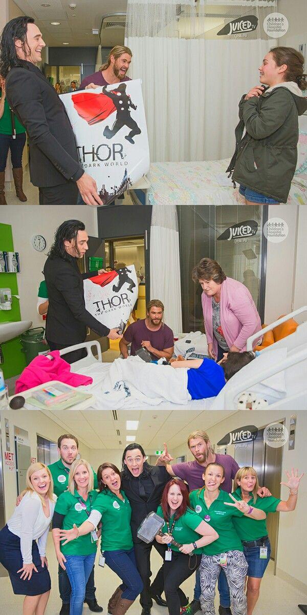 Thor and Loki visit sick kids at a Brisbane Hospital. Click here for full resolution: http://i.imgbox.com/NxELpCd9.jpg / http://i.imgbox.com/Iv54yI5G.jpg / http://i.imgbox.com/N6YwMlLh.jpg Source: https://www.childrens.org.au/news-media/thor-visit/