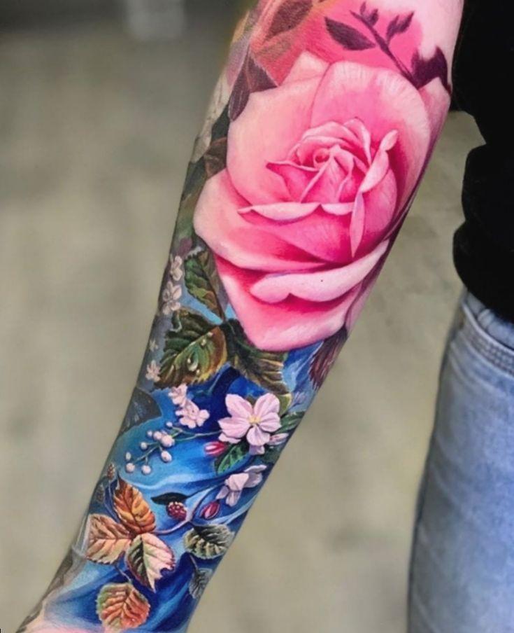 Tattoo Rose Realistic Art Designs #darkartistries # ...  Victorian Flower Tattoo