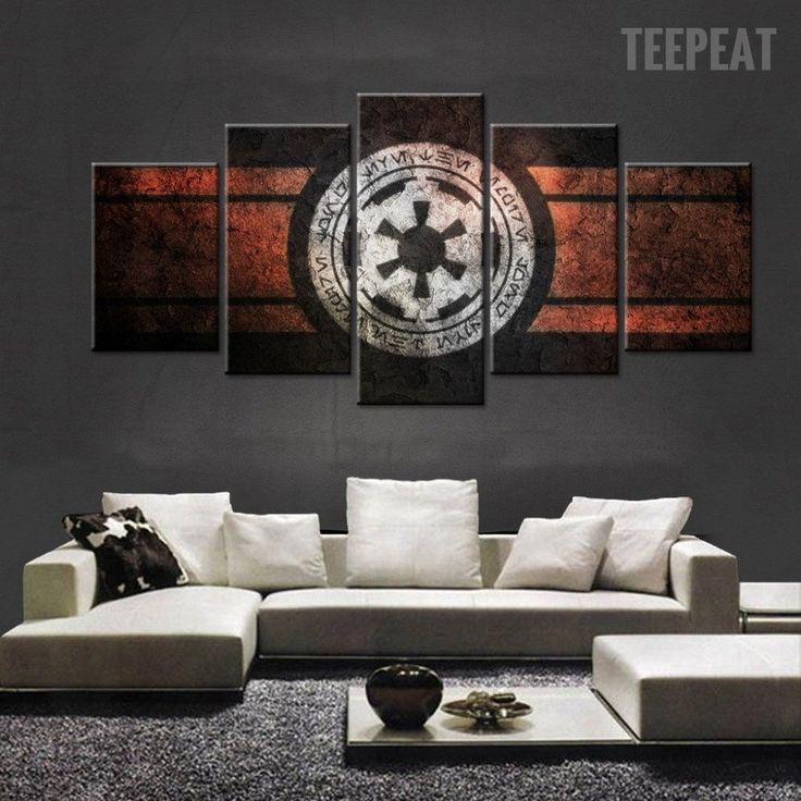 Star Wars Empire Logo Painting - 5 Piece Canvas  #prints #printable #painting #canvas #empireprints #teepeat