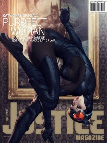 Photo of Justice Magazine issue 2: Catwoman for fans of Female Comic Book Heroes.