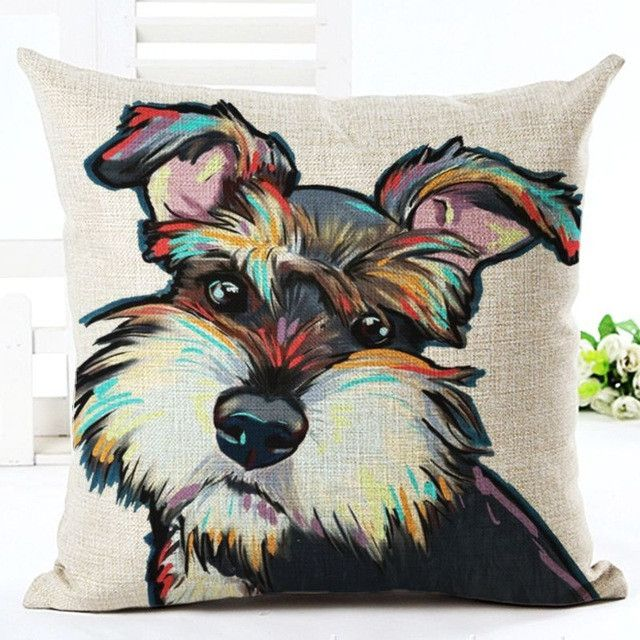 Dog Watercolor Pillow Case