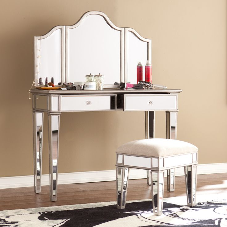 7 best vanities images on pinterest vanity mirrors and 13719 | 87d9c419b36db640ec6488836c9270b6 mirrored vanity bedroom vanities