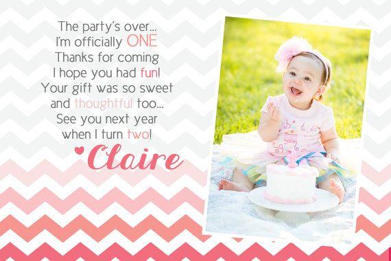chevron birthday thank-you card