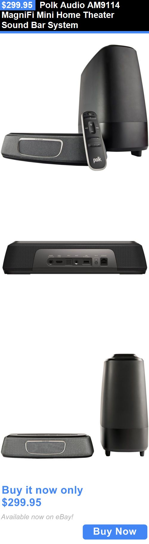 Home Theater Systems: Polk Audio Am9114 Magnifi Mini Home Theater Sound Bar System BUY IT NOW ONLY: $299.95