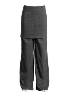 H&M × Maison Margiela MAISON MARTIN MARGIELA X H&M Trousers with Skirt in Grey