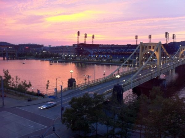 Clemente Bridge, Allegheny River, PNC Park, Pittsburgh, PA