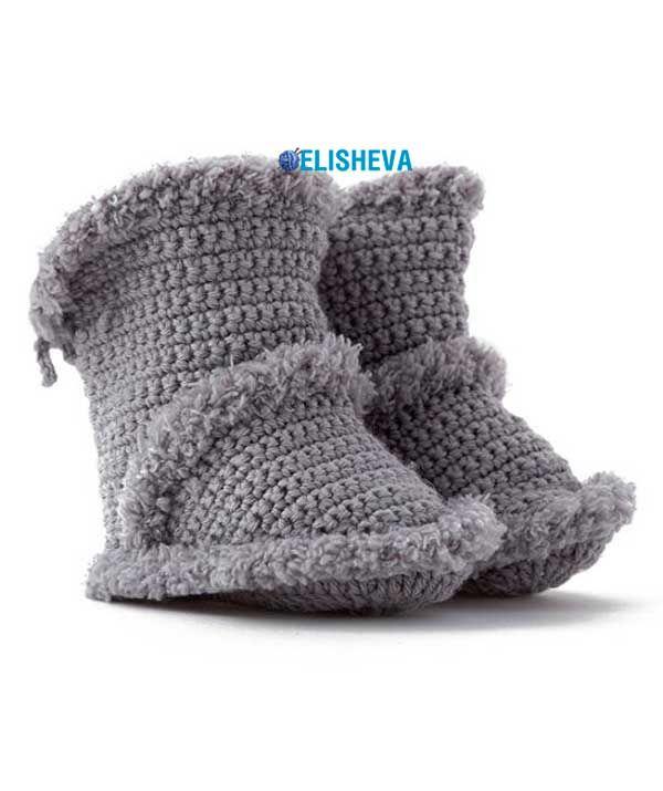 """Сапожки """"Угги"""" от Schachenmayr для малыша. Описание вязания крючком   Блог elisheva.ru"""