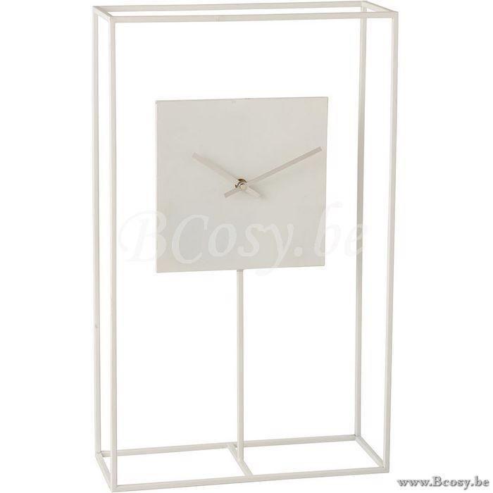 J Line Klok In Frame Minimalistisch Metaal Wit Jline By Jolipa 1411 Sta Staande Uurwerken Klokken Tafelklokken Pendules Horloges Watche In 2020 Clock Table Clock Decor