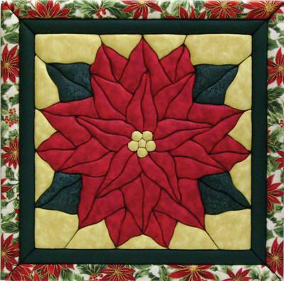 "Poinsettia Quilt Magic Kit-12""X12"""