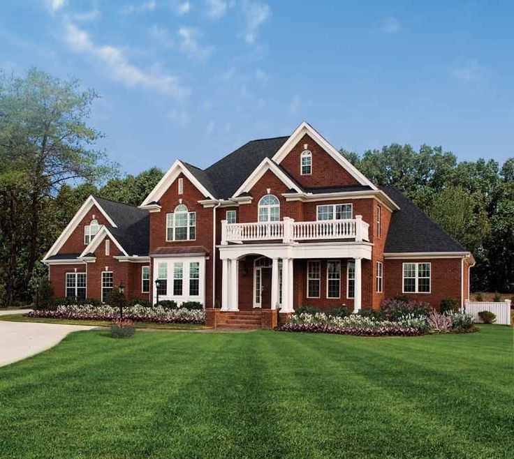 39 best brick with stone images on pinterest house for Traditional american home