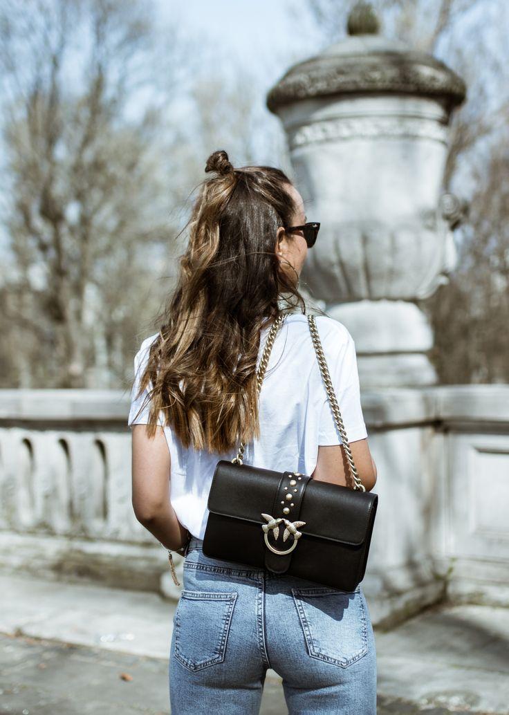 #spring #look #outfit #khaki #tee #white #jeans #pinko #lovemetender #zara #hm #blogger #girl #casual #street