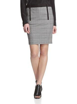 78% OFF L.A.M.B. Women's Plaid Pencil Skirt (Black/ivory)