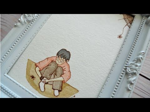 .: The Vanishing Glass - Harry Potter watercolor project :. - YouTube